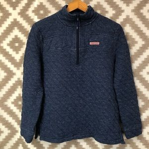 Vineyard Vines Navy Blue Quilted Shep Shirt